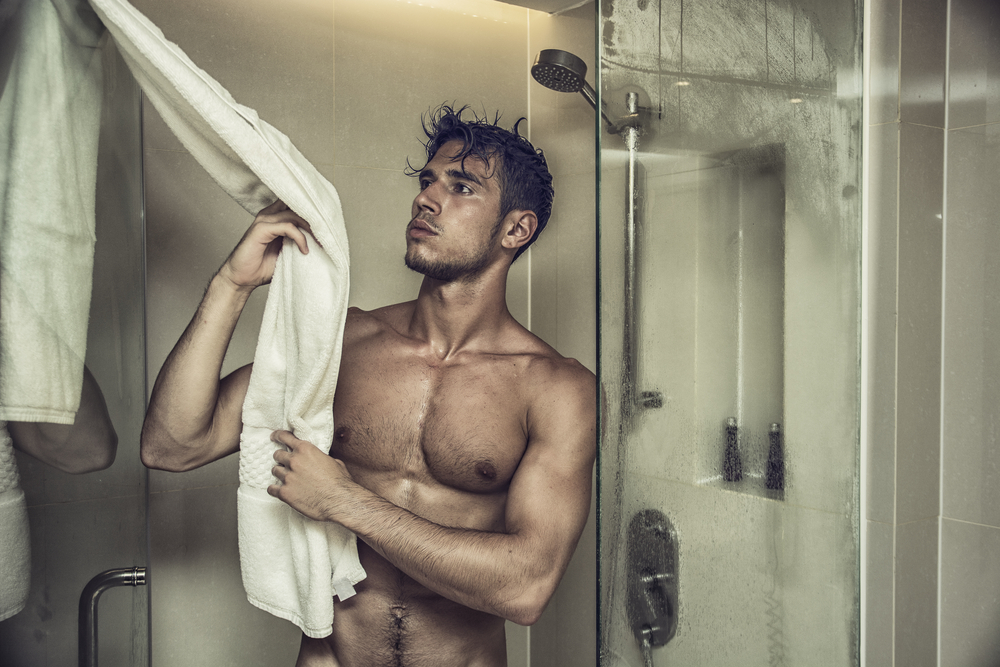 using a cock pump in the shower