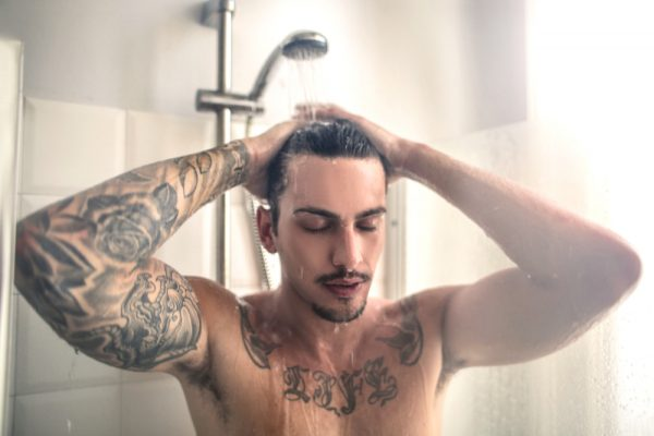 warm up in the shower before pumping your penis