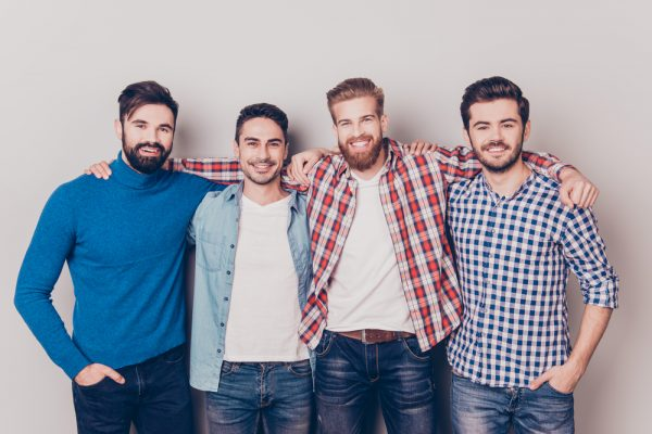 group of men who use penis pumps