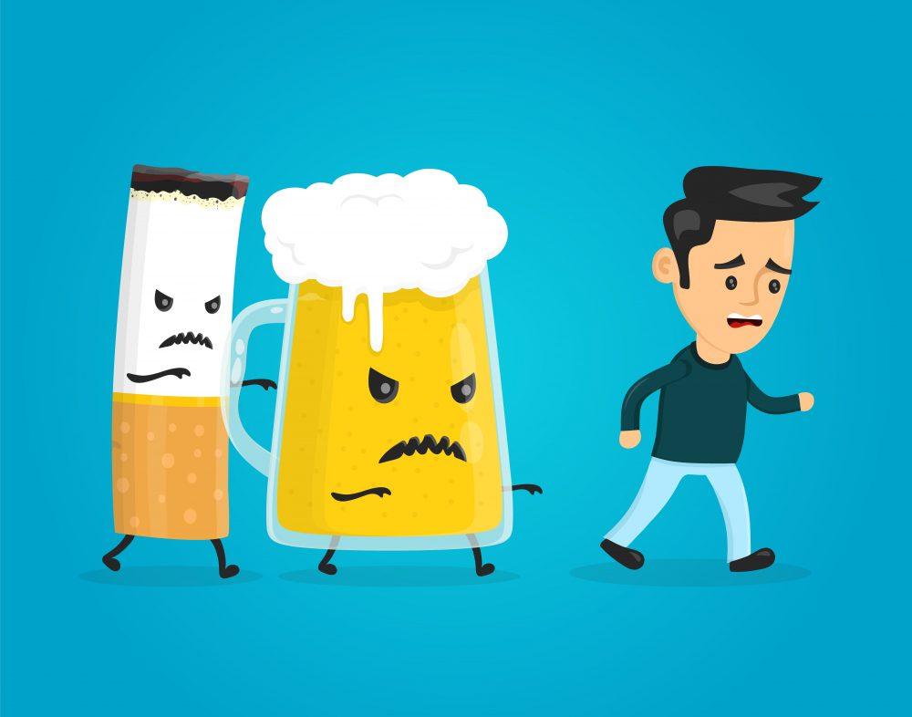 stop smoking and drinking