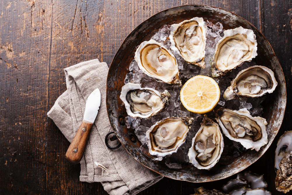 oysters contain more zinc than any other food type