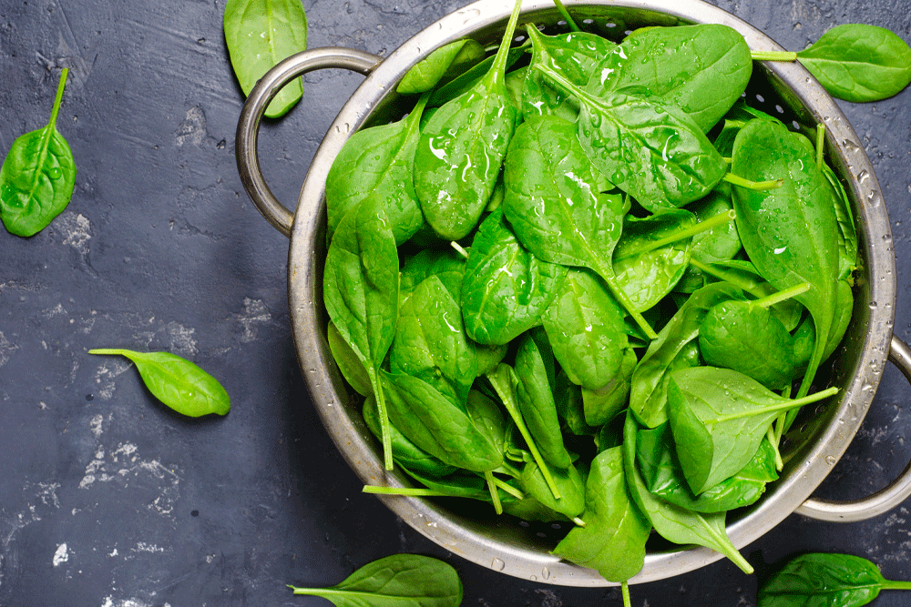 leafy greens contain magnesium which is proven to boost testosterone