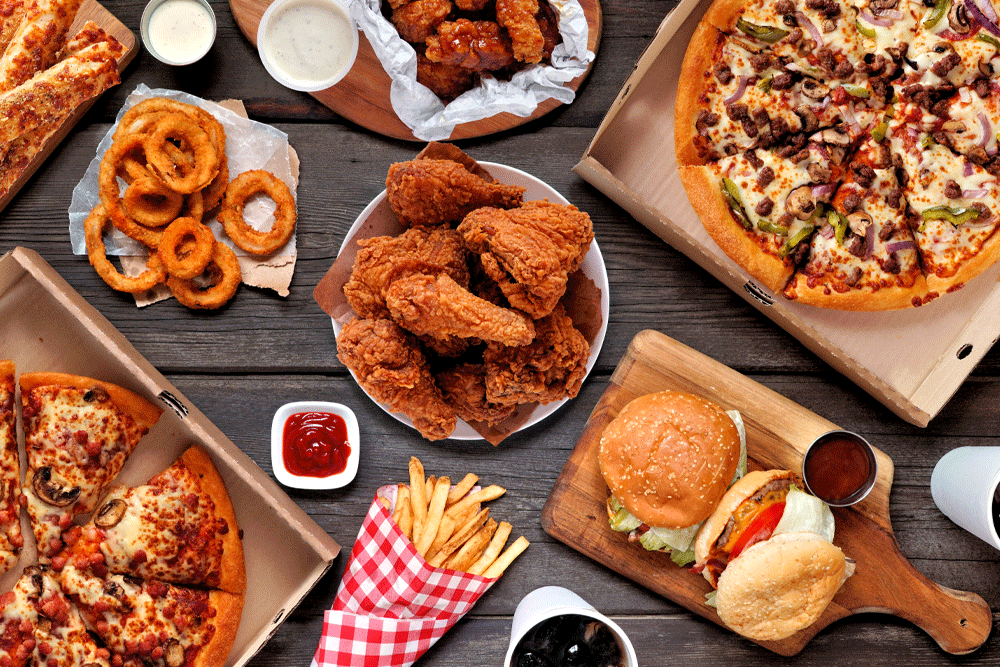 Too much junk food in your diet can lead to poor circulation